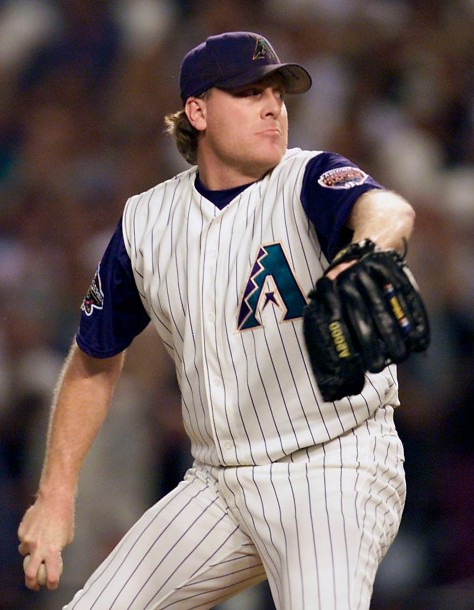 Arizona Diamondbacks' starting pitcher Curt Schill